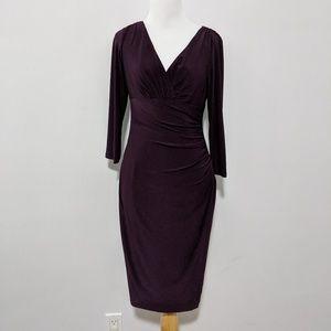 Lauren Ralph Lauren ruched faux-wrap dress (4)